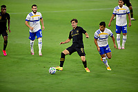 LOS ANGELES, CA - SEPTEMBER 02: Francisco Ginella #8 of the LAFC passes off the ball during a game between San Jose Earthquakes and Los Angeles FC at Banc of California stadium on September 02, 2020 in Los Angeles, California.