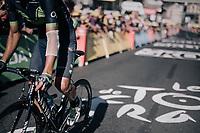Andrey Amador (CRI/Movistar) crossing the finish line with some proof of an earlier crash<br /> <br /> 104th Tour de France 2017<br /> Stage 15 - Laissac-Sévérac l'Église › Le Puy-en-Velay (189km)