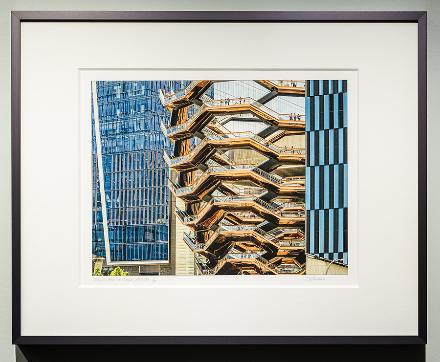 """Framed Size 16""""h x 20""""w, $365<br /> Natural Steel Nielsen 117 metal frame with 8-ply mat"""