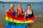 Enjoying Fenit beach as the celebrate Pride Day on Saturday, l to r: Cathy O'Shea, Hannah O'Connor and Morgan Queeney.