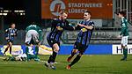 13.01.2021, xtgx, Fussball 3. Liga, VfB Luebeck - SV Waldhof Mannheim emspor, v.l. Dominik Martinovic (Mannheim, 11) Jubel, Torjubel, jubelt ueber das Tor, celebrate the goal, celebration <br /> <br /> (DFL/DFB REGULATIONS PROHIBIT ANY USE OF PHOTOGRAPHS as IMAGE SEQUENCES and/or QUASI-VIDEO)<br /> <br /> Foto © PIX-Sportfotos *** Foto ist honorarpflichtig! *** Auf Anfrage in hoeherer Qualitaet/Aufloesung. Belegexemplar erbeten. Veroeffentlichung ausschliesslich fuer journalistisch-publizistische Zwecke. For editorial use only.