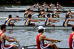 A view of the start while rowers compete during the 68th Dad Vail Regatta on the Schuylkill River in Philadelphia, Pennsylvania on May 12, 2006.........