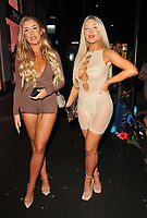 Jess Gale and Eve Gale at the boohooMan Love Island Party, boohoo, Great Portland Street, on Thursday 07th October 2021, in London, England, UK. <br /> CAP/CAN<br /> ©CAN/Capital Pictures