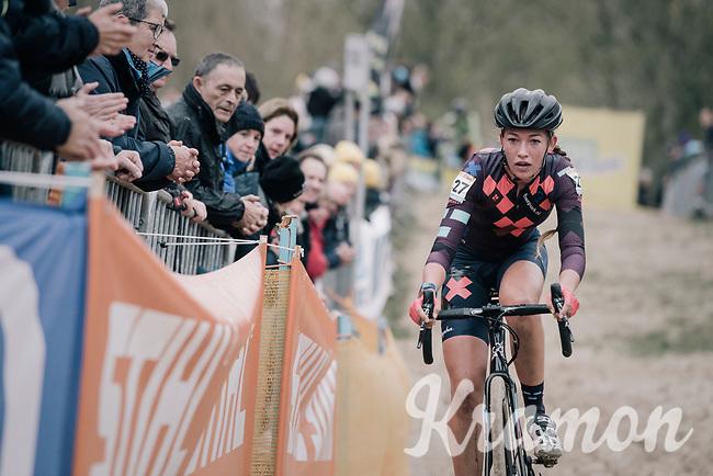 Sophie De Boer (NED/Breepark)<br /> <br /> Women's Elite race<br /> <br /> UCI cyclocross World Cup Koksijde / Belgium 2017
