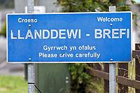 2019 08 22 Llanddewi Brefi in Ceredigion, Wales, UK.