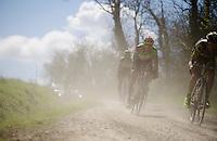 Frederique Robert (BEL/Crelan-Vastgoedservice) easting dust<br /> <br /> 33th Tro Bro Léon 2016