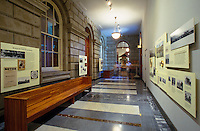 Exhibits within the Judiciary History Center, located near Iolani Palace in Honolulu and known for its beautiful architecture
