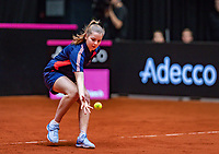 Den Bosch, The Netherlands, Februari 9, 2019,  Maaspoort , FedCup  Netherlands - Canada, second match : Ballgirl<br /> Photo: Tennisimages/Henk Koster