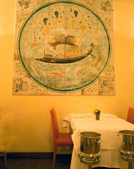 Interior, La Rosetta Restaurant, Rome, Italy