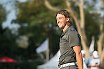 Tommy Fleetwood of England reacts after finishing the tournament during the 58th UBS Hong Kong Golf Open as part of the European Tour on 11 December 2016, at the Hong Kong Golf Club, Fanling, Hong Kong, China. Photo by Marcio Rodrigo Machado / Power Sport Images