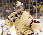 Parker Milner (BC - 35) - The Boston College Eagles defeated the Boston University Terriers 3-2 (OT) to win the 2012 Beanpot championship on Monday, February 13, 2012, at TD Garden in Boston, Massachusetts.