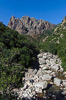 Fluss Porto in derSpelunca-Schlucht, Korsika, Frankreich