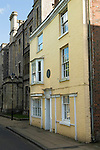 Jane Austen lived and died here in this house on 18 July 1817. College street Winchester Hampshire. 2012 2010s UK