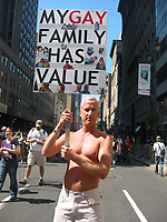Protesting for gay rights for families in New York City outside Republican Convention 2004
