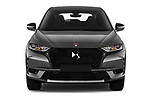 Car photography straight front view of a 2019 Ds DS-7-Crossback Performance-Line 5 Door SUV Front View