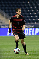 Chester, PA - Friday December 08, 2017: Adam Mosharrafa The Stanford Cardinal defeated the Akron Zips 2-0 during an NCAA Men's College Cup semifinal match at Talen Energy Stadium.