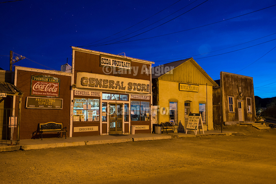 Ghost town of Randsburg, Kern County, Calif. in the evening
