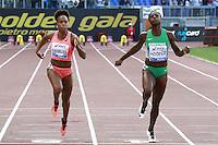 Jamile Samuel Second NED, Gloria Hooper Winner ITA 100m Women  <br /> Roma 02-06-2016 Stadio Olimpico.<br /> IAAF Diamond League 2016<br /> Atletica Legera <br /> Golden Gala Meeting - Track and Field Athletics Meeting<br /> Foto Cesare Purini / Insidefoto