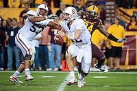 TEMPE, AZ - November 13, 2010: Andrew Luck during a football game at Arizona State University in Tempe, Arizona. Stanford won 17-13.
