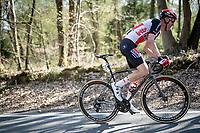 Tim Wellens (BEL/Lotto-Soudal) up the Côte de la Roche-aux-Faucons<br /> <br /> 107th Liège-Bastogne-Liège 2021 (1.UWT)<br /> 1 day race from Liège to Liège (259km)<br /> <br /> ©kramon