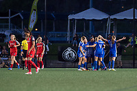 Boston, MA - Friday May 19, 2017: Boston Breakers celebrate a goal during a regular season National Women's Soccer League (NWSL) match between the Boston Breakers and the Portland Thorns FC at Jordan Field.