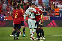 4th June 2021; Madrid, Spain International football friendly, Spain versus Portugal,  Cristiano Ronaldo of Portugal and Alvaro Morata of Spain after the friendly match between Spain and Portugal played at Wanda Metropolitano Stadium