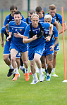 St Johnstone Training….29.06.19   McDiarmid Park, Perth<br />Steven Anderson and Michael O'Halloran pictured during a training run<br />Picture by Graeme Hart.<br />Copyright Perthshire Picture Agency<br />Tel: 01738 623350  Mobile: 07990 594431