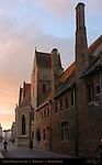 Sint-Janshospitaal St. Johns Hospital at Sunrise, Mariastraat, Bruges, Brugge, Belgium