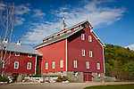 A restored Monitor barn in Richmond, VT, USA