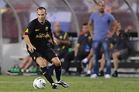 FC Barcelona midfielder Andres Iniesta (8) Manchester United defeated Barcelona FC 2-1 at FedEx Field in Landover, MD Saturday July 30, 2011.