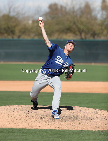 Josh Sborz - Los Angeles Dodgers 2018 spring training (Bill Mitchell)