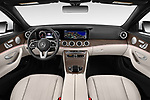 Stock photo of straight dashboard view of a 2020 Mercedes Benz E-Class  E450 5 Door Wagon