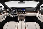 Stock photo of straight dashboard view of a 2020 Mercedes Benz E-Class  E450 5 Door Wagon