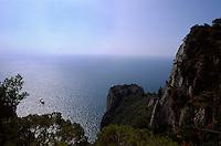 Blick vom Pizzolungo-Wanderweg, Capri, Italien