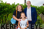 Laura Harris from Listellick NS with her parents Linda and Robert at her First Holy Communion in St Brendan's Church on Saturday.