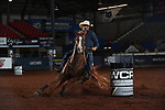 Josh Andrews during the second round of barrel qualifiers at the WCRA Stampede at the E. Photo by Andy Watson