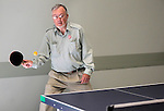 Bill Kenson plays ping pong at the Carson City Senior Citizen Center in Carson City, Nev., on Wednesday, Aug. 22, 2012..Photo by Cathleen Allison