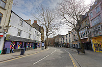 Pictured: The usually Wind Street is deserted in the city centre of Swansea, Wales, UK. Saturday 21 March 2020<br /> Re: Covid-19 Coronavirus pandemic, UK.