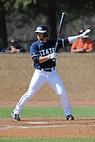Michael Gonzalez #6 of East Tennessee State University calls for time out at Greenwood Field against the the University of North Carolina Asheville on March 2, 2011 in Asheville, North Carolina.  East Tennessee State University won 13-5.  Photo by Tony Farlow / Four Seam Images..