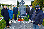 The grandchildren of John O'Connor who was killed by the Black and Tans on the 14th December 1920 at his grave in Kilsarcon on Saturday. Front: Patrick O'Connor. Back l to r: Patrick O'Connor, Mary Ann Healy, John Joe O'Connor, John Michael Howard and David O'Connor.