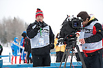 MARTELL-VAL MARTELLO, ITALY - FEBRUARY 02: Journalist Peter Schr?der after the Women 7.5 km Sprint at the IBU Cup Biathlon 6 on February 02, 2013 in Martell-Val Martello, Italy. (Photo by Dirk Markgraf)