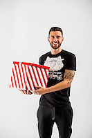 Wednesday 02 November 2016<br /> Pictured: Borja Gonzalez<br /> Re: Swansea City Christmas Photo shoot, Liberty Stadium, Wales, UK