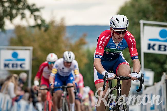 Anthony Turgis (FRA/Total - Direct Energie) up the Oude Kwaremont<br /> <br /> 104th Ronde van Vlaanderen 2020 (1.UWT)<br /> 1 day race from Antwerpen to Oudenaarde (BEL/243km) <br /> <br /> ©kramon