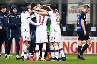 Bologna players celebrate at the end of the match <br /> Milano 03-02-2019 Stadio San Siro Football Serie A 2018/2019 Inter - Bologna    <br /> Foto Image Sport / Insidefoto