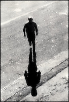 Silhouetted man running<br />