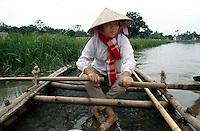 Frau bei Ninh Binh, Vietnam