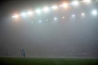 29th December 2020; Bet365 Stadium, Stoke, Staffordshire, England; English Football League Championship Football, Stoke City versus Nottingham Forest; Goalkeeper Brice Samba of Nottingham Forest in the fog