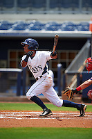 GCL Rays outfielder Oscar Rojas (6) at bat during the second game of a doubleheader against the GCL Red Sox on August 4, 2015 at Charlotte Sports Park in Port Charlotte, Florida.  GCL Red Sox defeated the GCL Rays 2-1.  (Mike Janes/Four Seam Images)