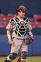 Illinois State Redbirds catcher Mike Hollenbeck #51 during a game vs. Bowling Green at Chain of Lakes Park in Winter Haven, Florida;  March 6, 2011.  Illinois State defeated Bowling Green 18-10.  Photo By Mike Janes/Four Seam Images