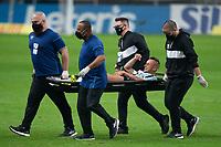 10th July 2021; Arena do Gremio, Porto Alegre, Brazil; Brazilian Serie A, Gremio versus Internacional; Rafinha of Gremio is injured and leaves the pitch on a stretcher
